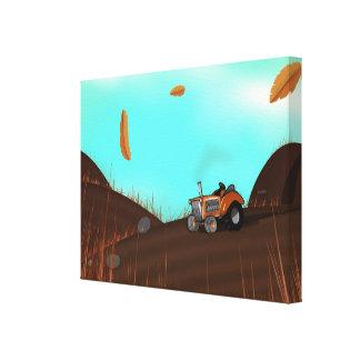 ヴィンテージの農業トラクター キャンバスプリント