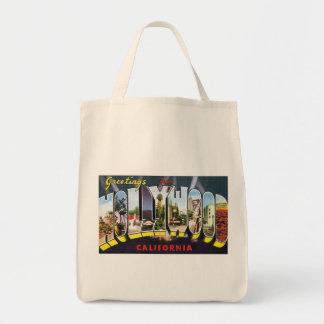 ヴィンテージの郵便はがきのハリウッドの挨拶のトートバック トートバッグ