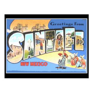 ヴィンテージの郵便はがきサンタフェ ポストカード