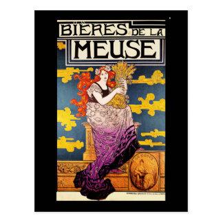 ヴィンテージの郵便はがき:  Bieres deのlaムーズ ポストカード