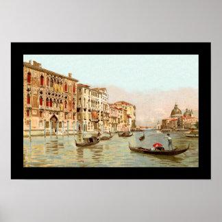ヴィンテージの郵便はがきPalazzo Franchetti Veneziaベニス ポスター