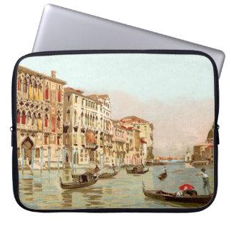 ヴィンテージの郵便はがきPalazzo Franchetti Veneziaベニス ラップトップスリーブ