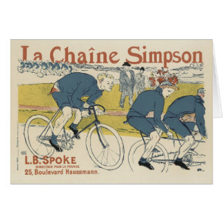 ヴィンテージの郵便料金の挨拶状-自転車 カード