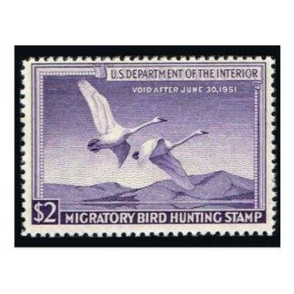 ヴィンテージの野性生物のスタンプのグラフィックの郵便はがき ポストカード