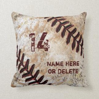 ヴィンテージの野球の枕のジャージーの数そして名前 クッション