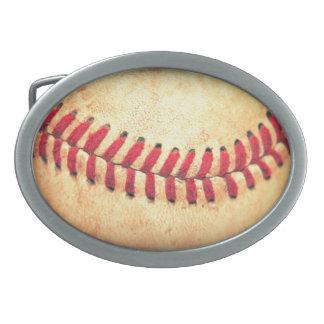 ヴィンテージの野球の球 卵形バックル