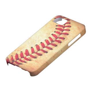 ヴィンテージの野球の球 iPhone SE/5/5s ケース