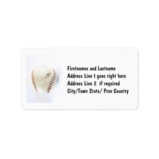 ヴィンテージの野球またはソフトボールのステッチ ラベル
