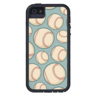 ヴィンテージの野球パターン iPhone SE/5/5s ケース