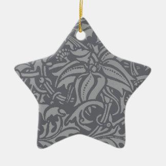 ヴィンテージの野生の花のアールヌーボーのアザミのデザイン 陶器製星型オーナメント