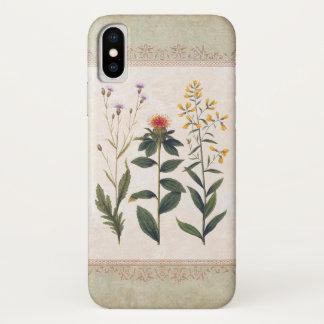 ヴィンテージの野生の花の旧式なドイツの花柄 iPhone X ケース