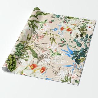 ヴィンテージの野生の花パターン ラッピングペーパー