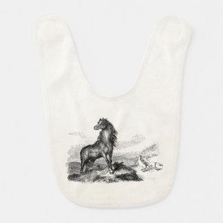 ヴィンテージの野生の馬のムスタングの種馬のテンプレート ベビービブ