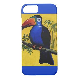 ヴィンテージの野生動物の鳥、木の熱帯Toucan iPhone 8/7ケース