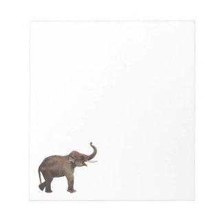 ヴィンテージの野生動物、幸運のアジアゾウ ノートパッド