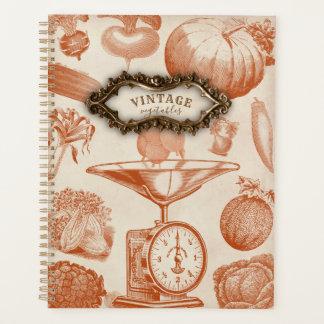 ヴィンテージの野菜のプランナー プランナー手帳