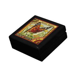 ヴィンテージの野菜ラベルの芸術、蝶ブランドの豆 ギフトボックス