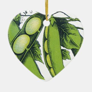 ヴィンテージの野菜; アオイマメ、オーガニックな農場の食糧 セラミックオーナメント