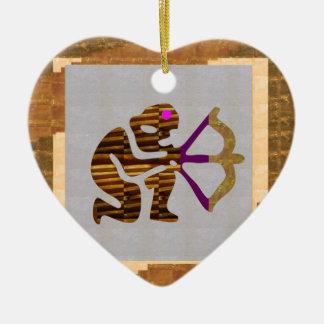 ヴィンテージの金ゴールドの優れたギフト: ハンターの弓n矢TIP セラミックオーナメント