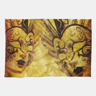 ヴィンテージの金ベニス風のマスク キッチンタオル
