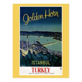 ヴィンテージの金角のイスタンブールトルコ旅行 ポストカード