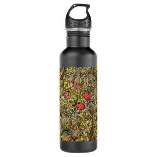 ヴィンテージの金Lillyの花柄ウィリアム・モリス ウォーターボトル