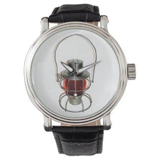ヴィンテージの鉄道ランタンの腕時計 腕時計
