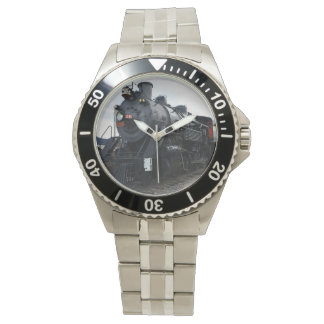 ヴィンテージの鉄道蒸気の列車 腕時計