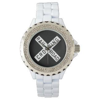 ヴィンテージの鉄道Crossbuckの腕時計 腕時計