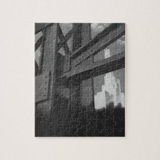 ヴィンテージの鋼鉄建築の超高層ビルの建築 ジグソーパズル