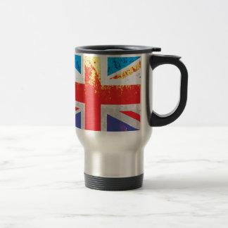 ヴィンテージの錆の質の英国国旗イギリス(イギリス)の旗 トラベルマグ