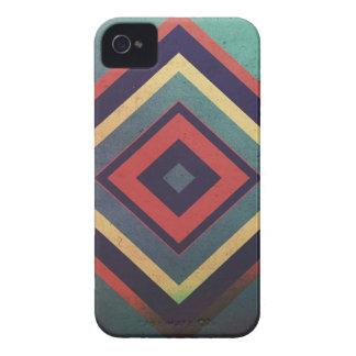 ヴィンテージの長方形のカラフル Case-Mate iPhone 4 ケース