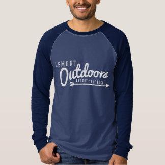 ヴィンテージの長袖のLemontのアウトドア Tシャツ