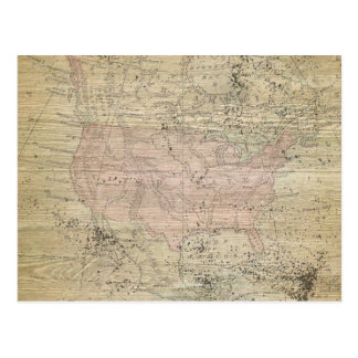 ヴィンテージの険しい木製の一見の地図 ポストカード