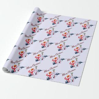 ヴィンテージの雪だるまの包装紙 ラッピングペーパー