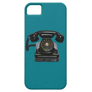 ヴィンテージの電話iphone 5やっとそこにQPCの場合 iPhone SE/5/5s ケース