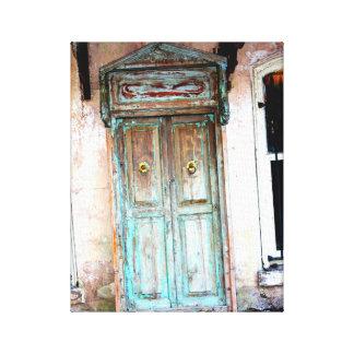 ヴィンテージの青いドア#2 キャンバスプリント