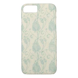 ヴィンテージの青いペーズリーパターン箱 iPhone 8/7ケース