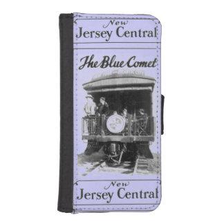 ヴィンテージの青い彗星の列車のiPhone 5/5sの箱 iPhoneSE/5/5sウォレットケース