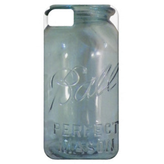 ヴィンテージの青い缶詰になる瓶 iPhone SE/5/5s ケース