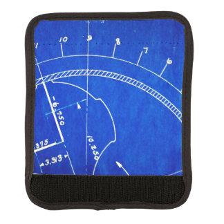 ヴィンテージの青写真の図表第327 スーツケース ハンドルカバー