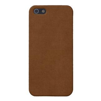 ヴィンテージの革によって日焼けさせるブラウンの硫酸紙 iPhone SE/5/5sケース