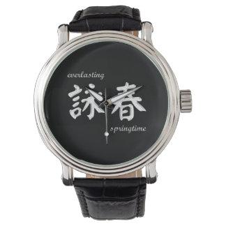 ヴィンテージの革バンドが付いている翼のChunの腕時計 腕時計