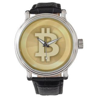 ヴィンテージの革バンドのBitcoinの腕時計 腕時計