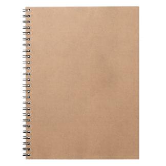 ヴィンテージの革ブラウンの硫酸紙のテンプレート ノートブック