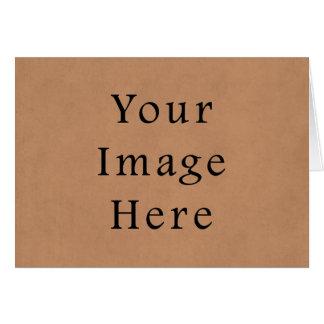 ヴィンテージの革ブラウンの硫酸紙の背景 カード