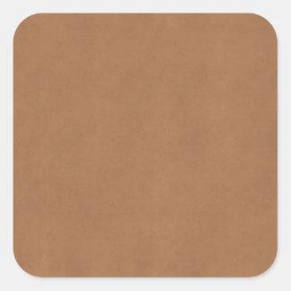 ヴィンテージの革ブラウンの羊皮紙のテンプレートのブランク スクエアシール