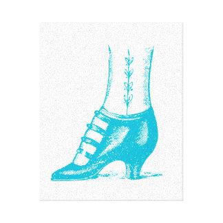ヴィンテージの靴 キャンバスプリント