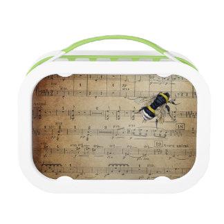 ヴィンテージの音楽的な蜂蜜の蜂のお弁当箱 ランチボックス