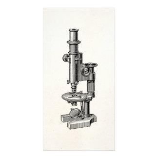 ヴィンテージの顕微鏡古く旧式な科学の顕微鏡 カード